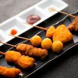 【こだわりの串揚げ】 大阪ならではの味をお楽しみください