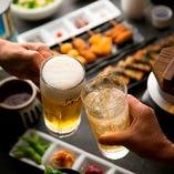 【飲み放題付コース】 女子会や観光の際のお食事にもおすすめ