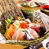 築地直送の鮮魚や料理長自慢の創作料理! 残心の宴会コース♪