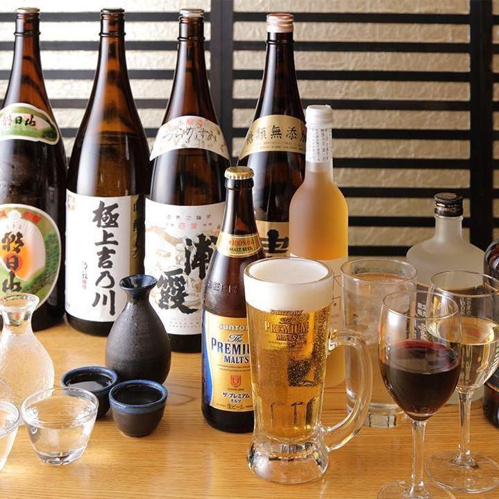 生ビールはもちろん幅広いジャンルのドリンクが飲み放題