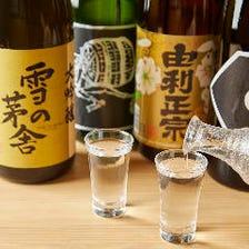 自慢の刺身と味わう季節酒や厳選酒