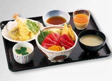 選べる丼、寿司の天ぷらセット