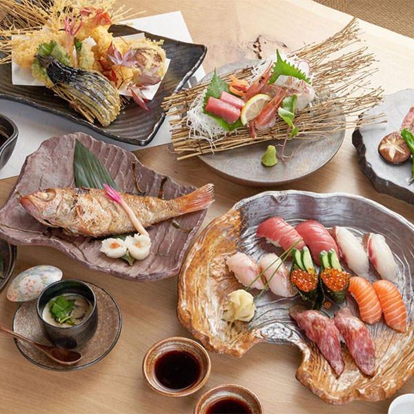 極  KIWAMIコース 飲み放題付 7,000円 旬の贅を満喫 北陸のどぐろ塩焼き×A5米沢牛×米沢牛肉寿司