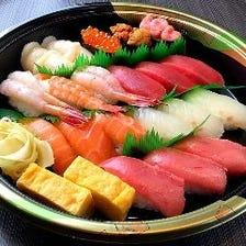 お持ち帰り寿司・出前大歓迎です♪
