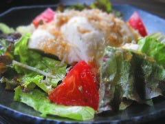 自家製豆腐のカリカリじゃこサラダ