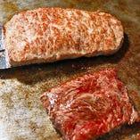 (1)ステーキメニューは焼き方をご指定ください。