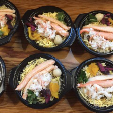 釜飯(海老・蟹・鶏・山菜)