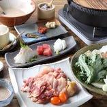 【コース】 自然薯とろろを使用した鍋やすき焼きに会席も