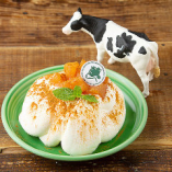 濃厚生クリームのアップルシナモンシフォンケーキ