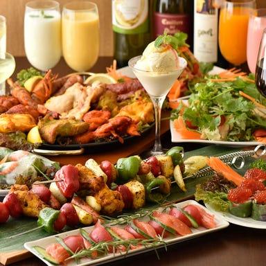 炭焼きタンドールと55種食べ放題 シルザナ 市ヶ谷店 コースの画像