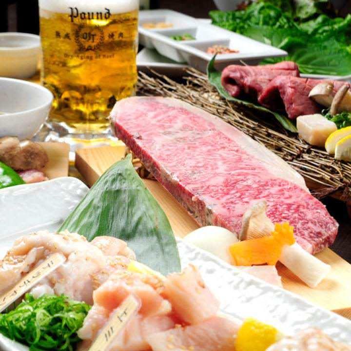 コース3,500円~おすすめの お肉とお料理が楽しめます