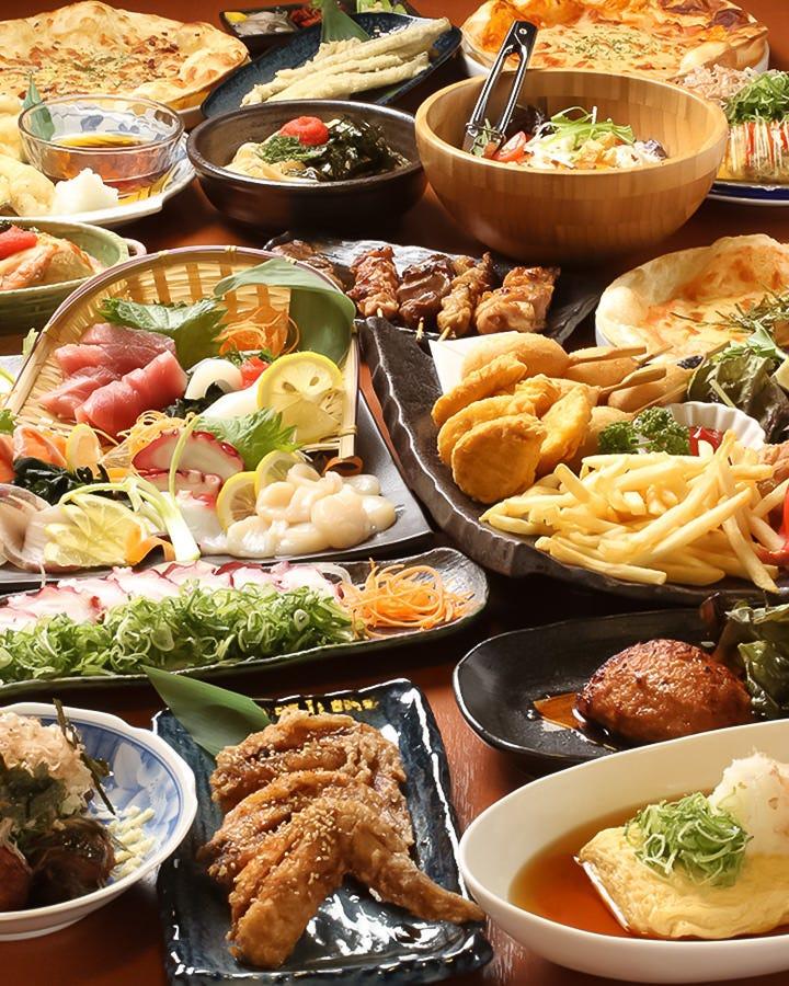 【女子会】3時間食べ飲み放題コース⇒3000円(税込み)