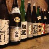 店主おすすめの日本酒が揃います。お好みのお酒を見つけてみては