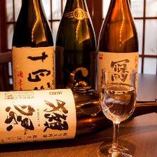 獺祭はじめ日本酒揃ってます!!