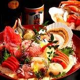【飲放付個室宴席】 圧倒的コスパの絶品魚介付宴席4,980円~