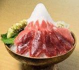 天然南鮪の富士山盛り(赤身/トロお選びいただけます)