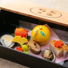 新鮮な海の幸や旬食材を使った京料理