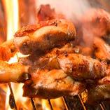 店内の炙りものは手作り、本格炭火焼きです(一部藁もあり)