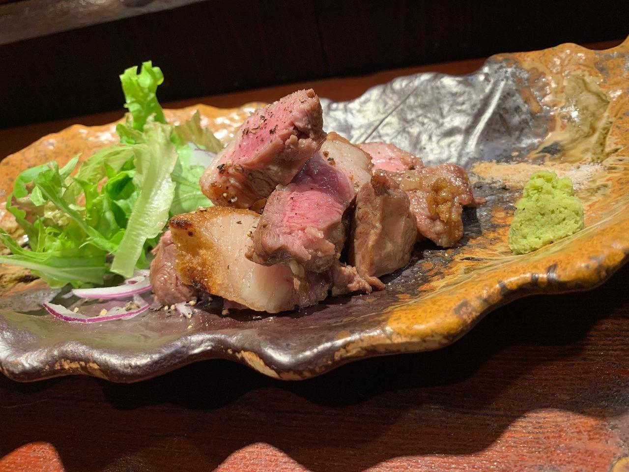 ラム肉の炭焼き