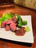 静岡和牛赤身肉の炭焼き