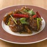 鶏もも肉の唐揚げ ピリ辛山椒風味