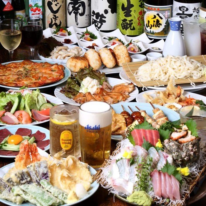 宴会なら天国!刺身、天ぷら、ステーキ!