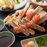 【7Lサイズ】タラバガニの蟹ちり(鍋野菜・雑炊付き)