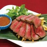 牛赤身肉のグリル バリニーズソース