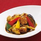 カレイと彩り野菜の黒酢あん炒め
