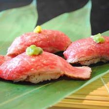神戸牛の肉寿司盛り合わせ
