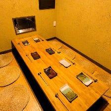 掘りごたつの個室空間 ※4~9名
