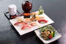 「アワビステーキとにぎり寿司」