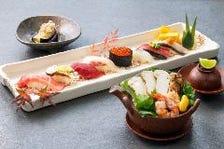 「松茸土瓶蒸しとにぎり寿司」