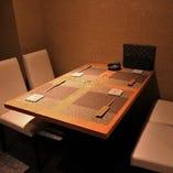 最大8名様まで入れる個室をご用意。接待や会食にも◎
