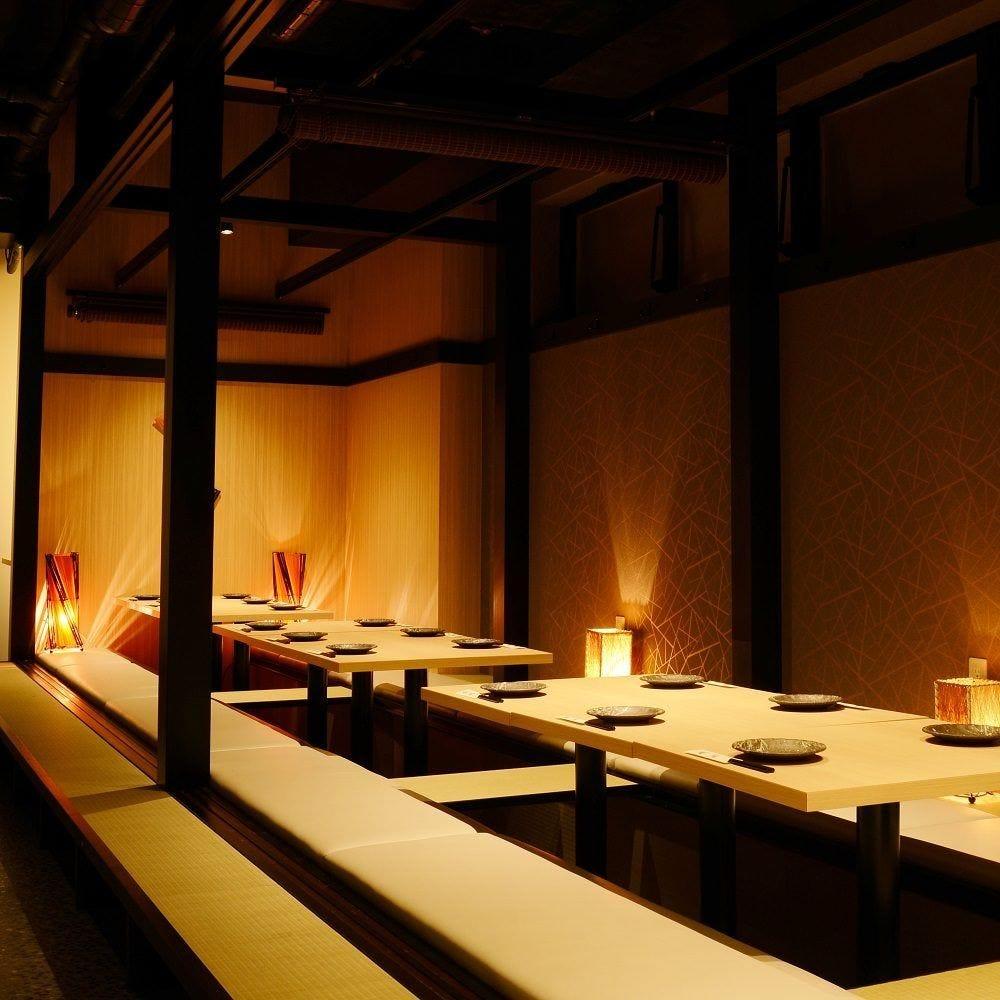 最大80名様まで個室席でご案内♪上野での貸切宴会も大歓迎♪
