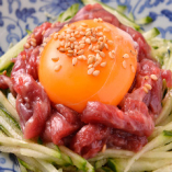 熊本県産馬肉のさくらユッケ