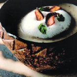 【しいたけのスープ カプチーノ仕立て】