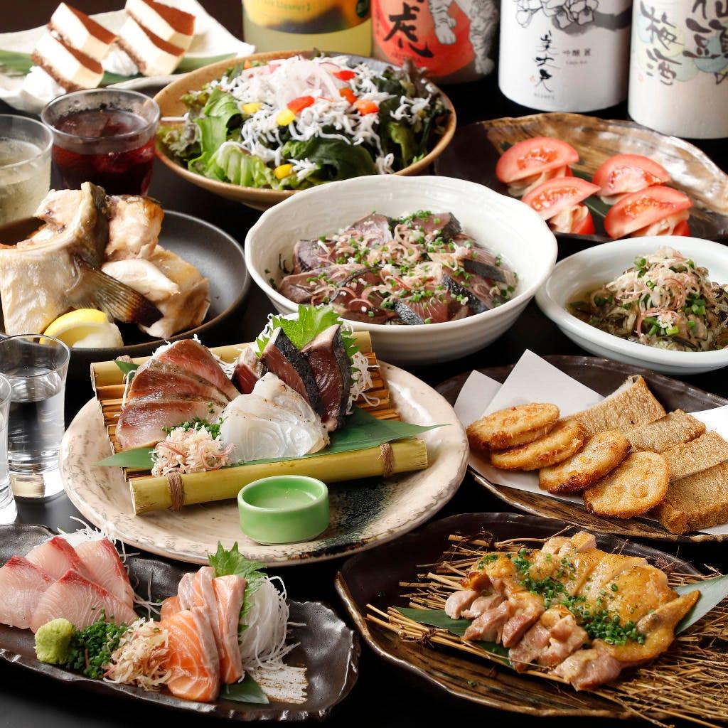 【飲み放題付】藁焼きは勿論!豪華な11品『プレミアムコース』宴会に