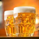 [料理に合う美酒] 生ビール、ワインなど多数♪