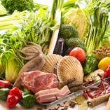 [厳選食材を使用] 料理人自ら吟味。素材の持ち味を活かします!!