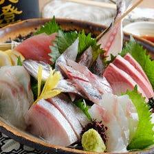 おまかせ鮮魚の五点盛り