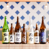 厳選素材で仕立てた料理に合う日本酒は常時20種以上ラインアップ