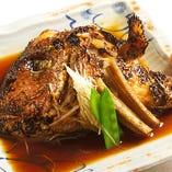 (夕食)鯛のかぶと煮膳