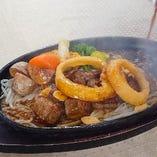 (昼夕食)鉄板サイコロステ-キ膳