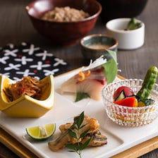季節のお刺身と焼魚の日本橋発酵御前