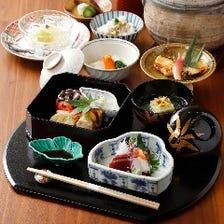 2つのコースをご用意、酒肴と和食