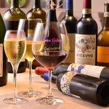 イタリア・フランスの中心に500種類・600本以上のワインをご用意!BIOワインも◎