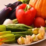 契約農家から直送した新鮮な旬野菜をふんだんに使用