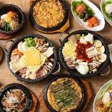 人気の食べ放題プランは、石鍋やチキン、チヂミやビビムパなど多彩な韓国料理を満喫できます!