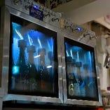 日本酒専用のサーバーも常備。